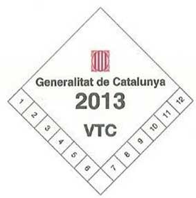 Las VTC irán identificadas con una pegatina en Cataluña