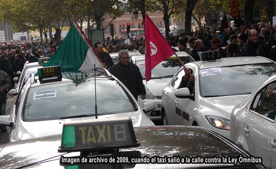 El taxi se manifiesta hoy en Madrid contra la LOTT