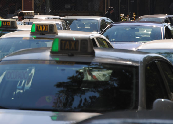 El taxi y la huelga del 14-N