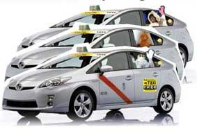 El taxi, con los niños