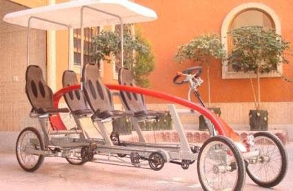 Se presenta en Irán el taxi-bicicleta