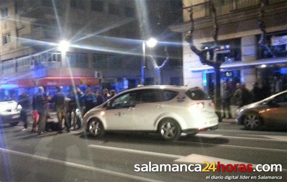 Un joven es atropellado por un taxi en Salamanca