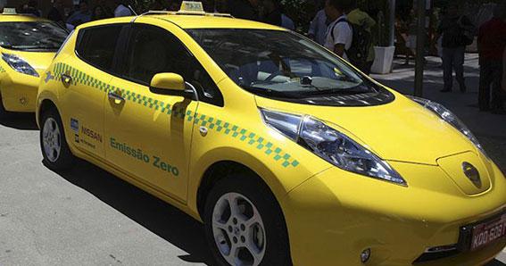 Río de Janeiro recibirá el Mundial con taxis eléctricos