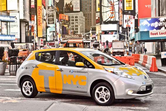 Programa piloto de taxis eléctricos en Nueva York