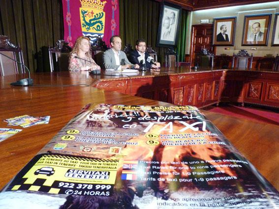 El taxi de Puerto de la Cruz se promociona en fiestas