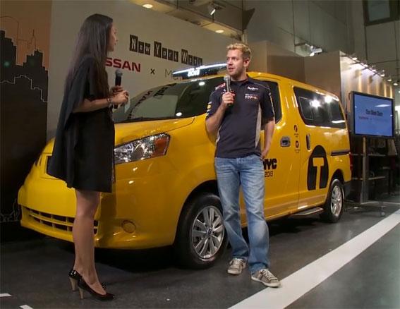 Sebastian Vettel presenta el nuevo taxi de NY