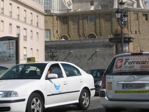 Taxistas gaditanos denuncian un intento de agresión en el aeropuerto