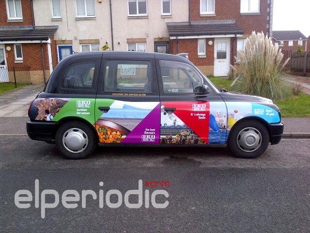 Benidorm se promociona en los taxis ingleses