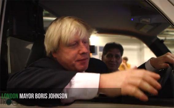 El alcalde de Londres prueba Metrocab 'cero emisiones'
