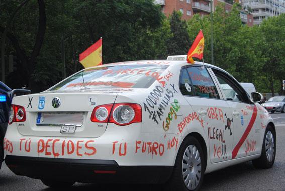 Hoy manifestación en Madrid contra la competencia