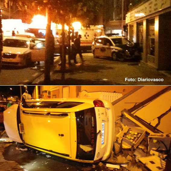 Accidentado fin de semana en el taxi