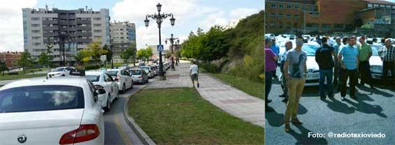 Movilización de taxis en Oviedo