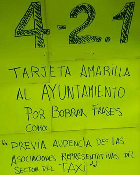 Los taxistas grancanarios protestan contra la nueva ordenanza