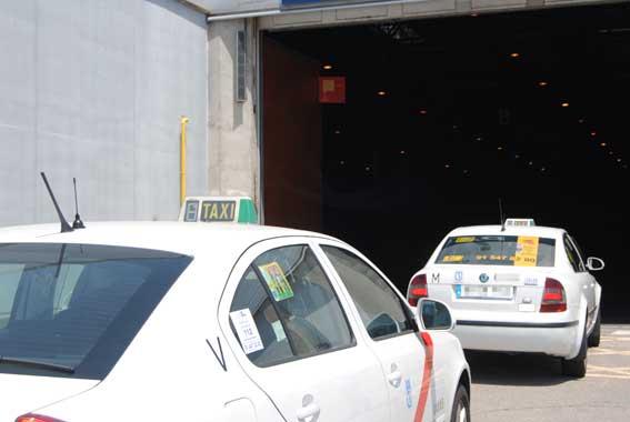 Aparcamiento subterráneo para taxis en la Puerta del Sol