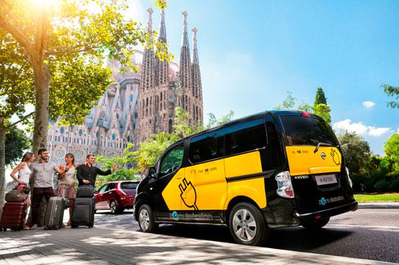 Los taxis Nissan superan los 367.000km libres de emisiones