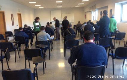 Examen de aptitud para los taxistas jerezanos