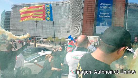 Protestas en Bruselas en defensa del sector