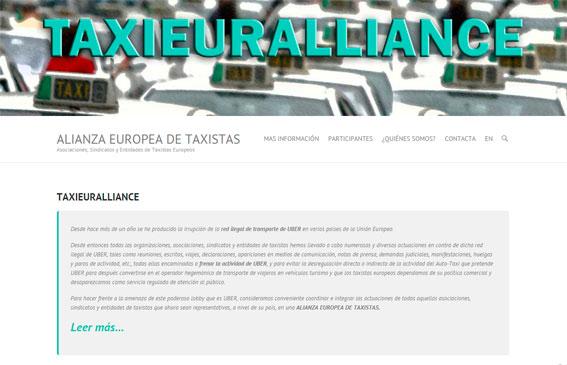 La Taxi European Alliance estrena web