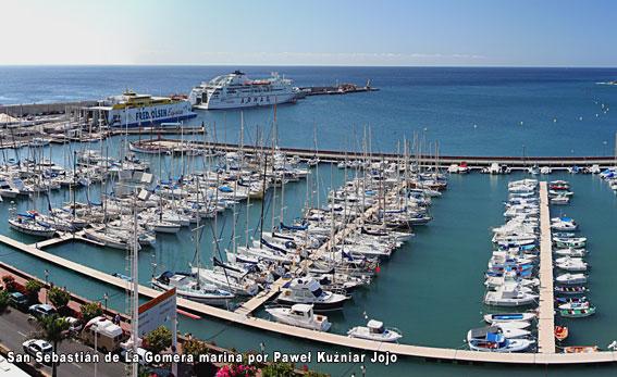 Límites de acceso en el puerto de la Gomera