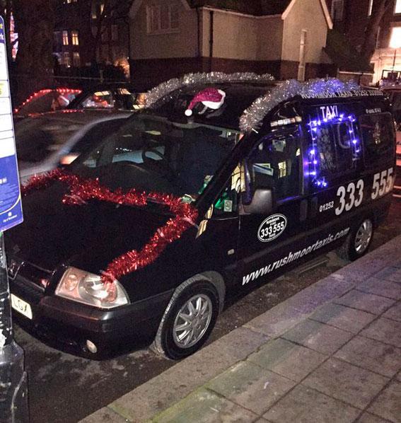 El taxi de Londres se vuelca con las personas sin hogar