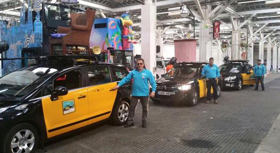 Tres taxis acompañarán a los Reyes Magos en Barcelona