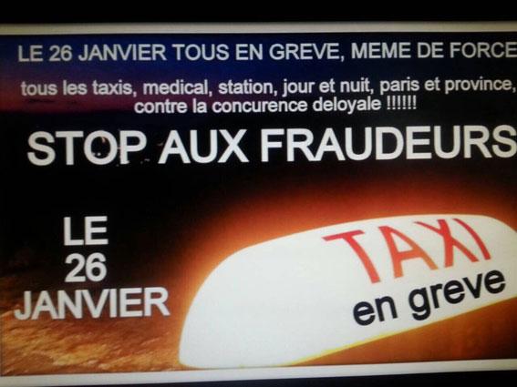 El taxi de París convoca un paro indefinido el 26-E