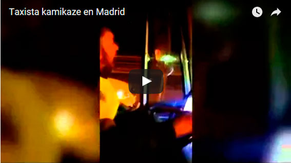 Taxista kamikaze causa un fuerte accidente en Madrid