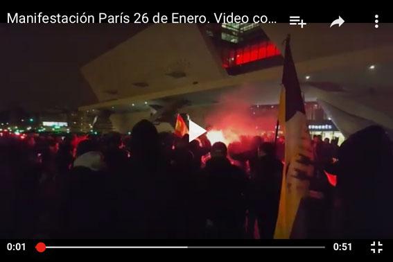 Caótica jornada de huelga en París