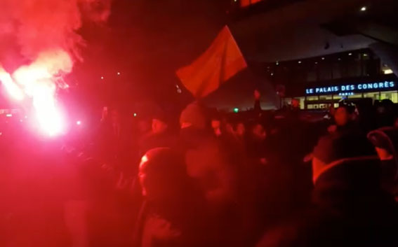 Tercer día de protestas en París