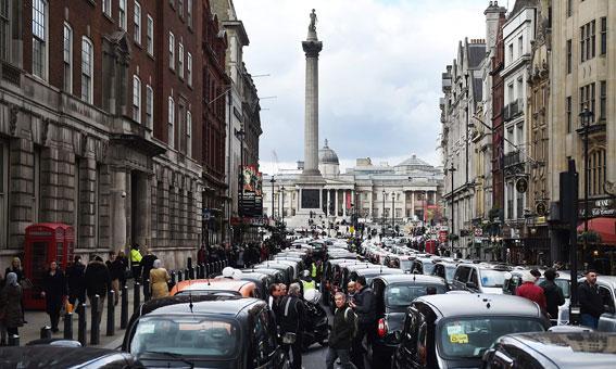 Protestas internacionales contra Uber