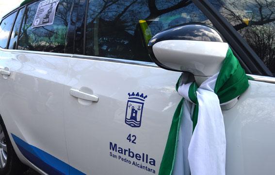 Los taxis de Andalucía secundan el paro en señal de protesta