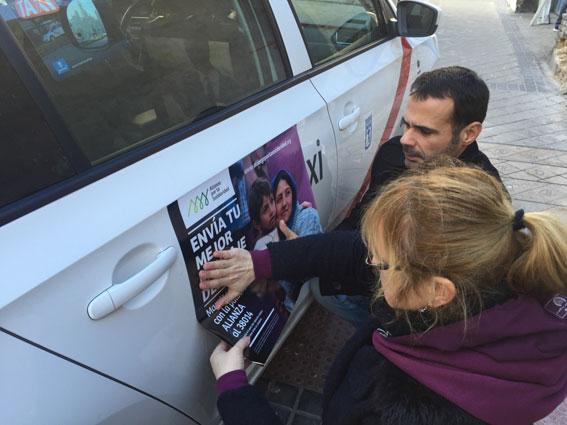 """1.800 taxistas piden ya """"tu mejor mensaje"""" solidario"""