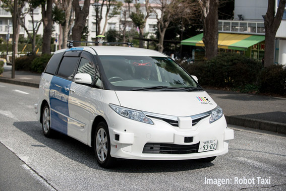 Taxis sin conductor para Tokio 2020