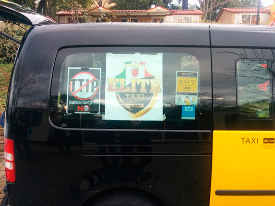 Cancelada la manifestación de taxistas en Roma