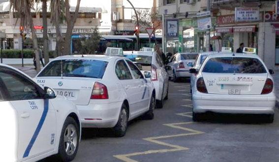 Taxistas de Málaga denuncian estar