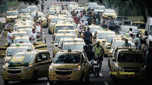 Una protesta contra Uber paraliza Rio de Janerio