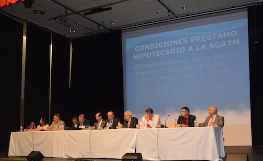 Los socios de AGATM ratifican hipotecar la sede