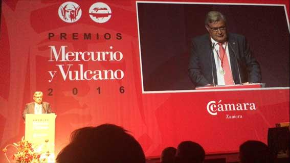 El presidente de MMT, medalla al M�rito de la C�mara de Comercio de Zamora