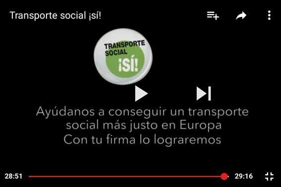 Campaña de CC.OO por un transporte social