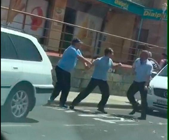 Pelea entre dos taxistas en Adeje