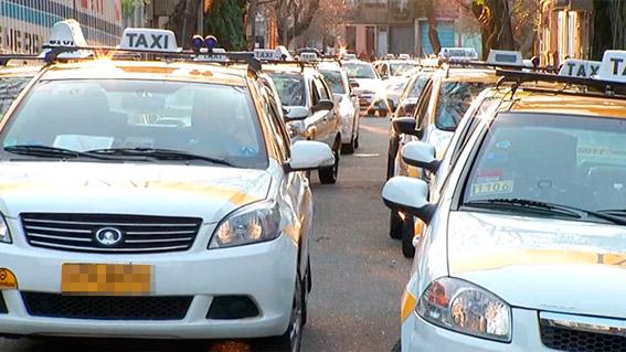 Paro y manifestación contra Uber