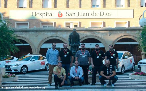 Taxistas de Zaragoza se solidarizan con los más necesitados