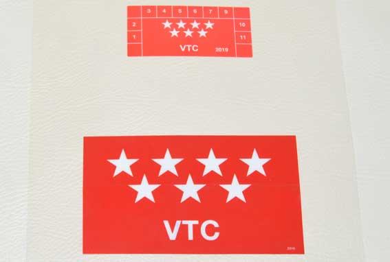 Transportes pegará los primeros distintivos para VTCs el 2N