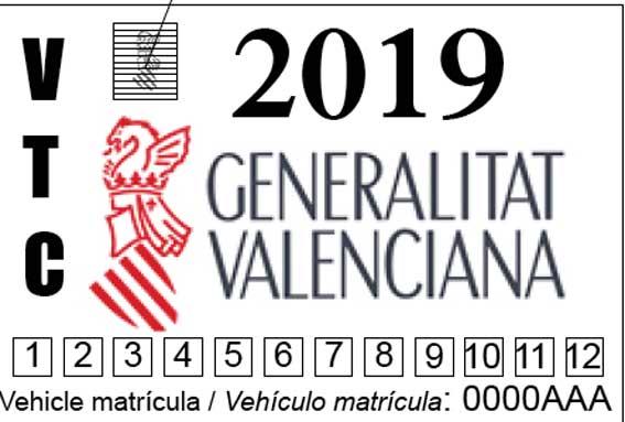 Las VTCs de Valencia también llevarán un distintivo