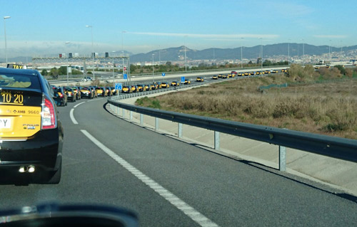 Más de 100 taxis de Barcelona viajarán a Madrid el 30M