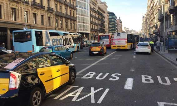 Nuevas medidas para que taxis y autobús circulen más rápido