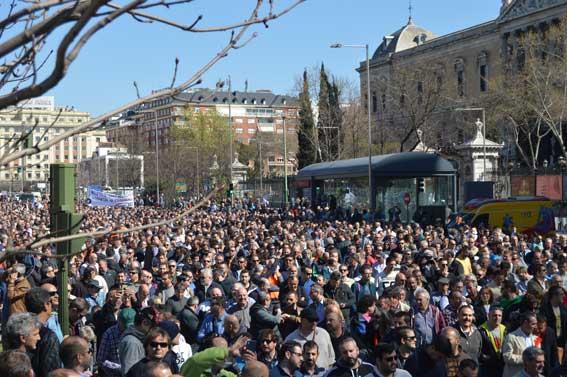 Manifestación del taxi el 30M
