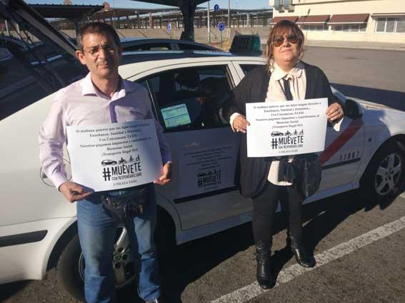 """Taxistas de Madrid impulsan la campaña """"Muévete con responsabilidad"""""""