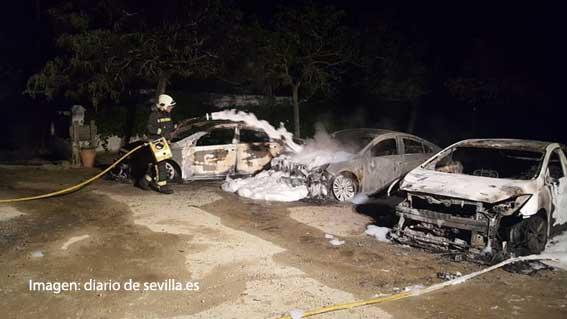 Arden nueve VTCs en Sevilla