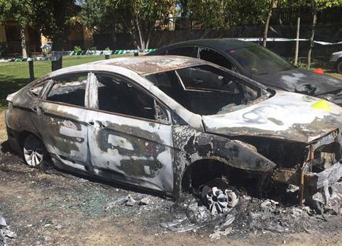 Archivada la causa contra dos taxistas por el incendio de VTCs en Sevilla